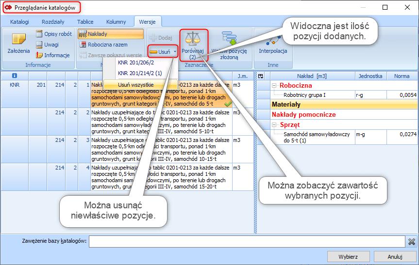 Tworzenie pozycji złożonej z poziomu przeglądania bazy katalogowej 4