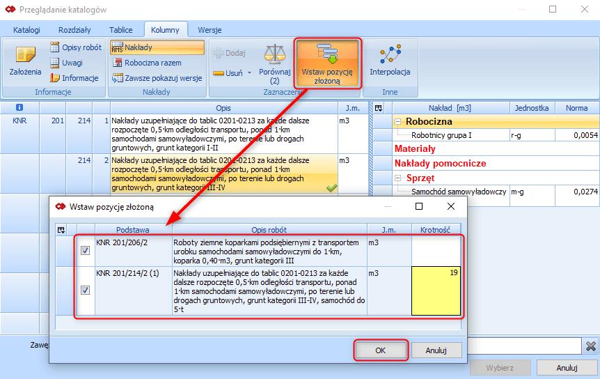 Tworzenie pozycji złożonej z poziomu przeglądania bazy katalogowej 6