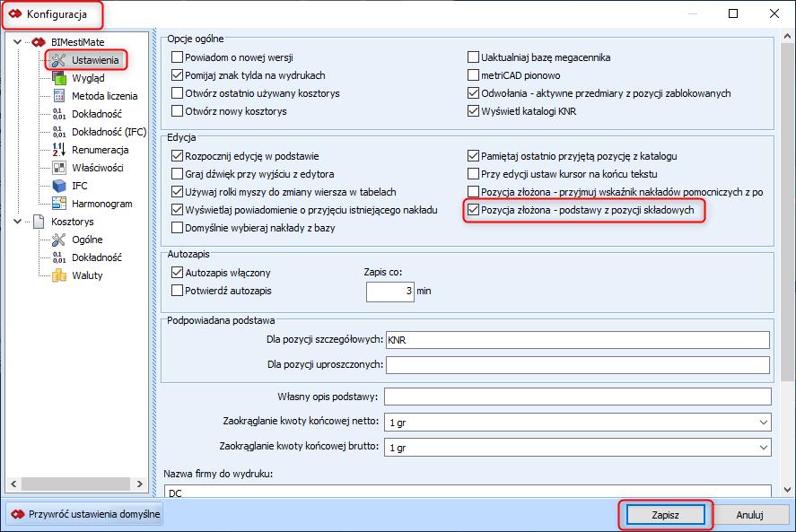 Tworzenie pozycji złożonej z poziomu przeglądania bazy katalogowej 8