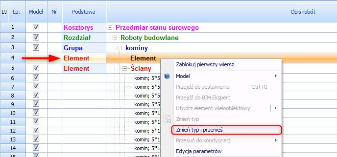 Nowości w BIMestiMate wersja 4.2.0 9