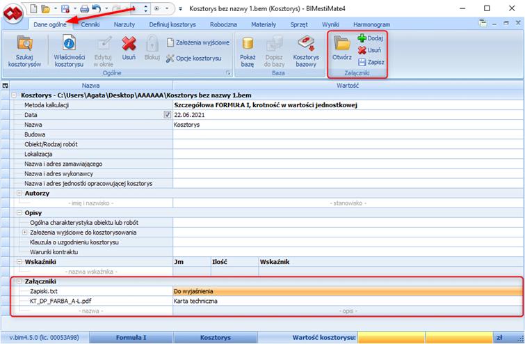 BIMestiMate 4.5.0 – czerwiec 2021 1
