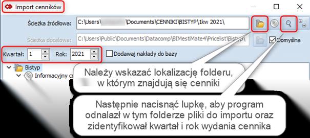 Import cenników Bistyp (zapisanych w formacie .csv) 2